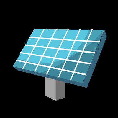 climate change kids solar panel icon