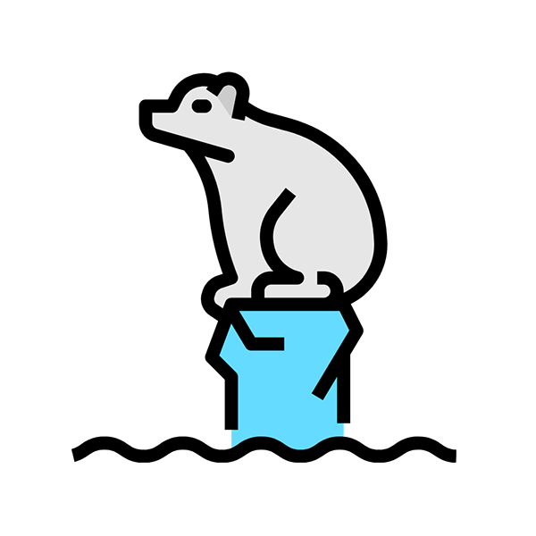 climate change animals icon