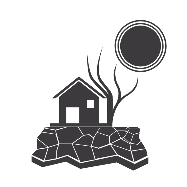 climate change bushfires icon