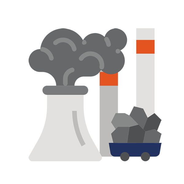 climate change fossil fuel icon