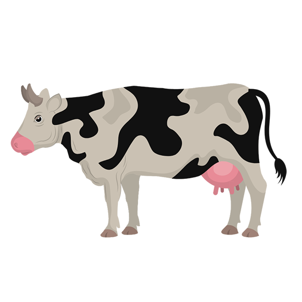 climate change farming icon showing cow