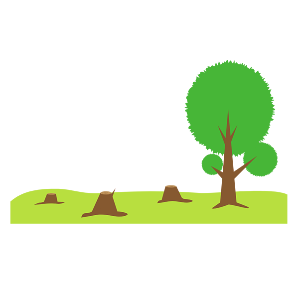 climate change deforestation icon