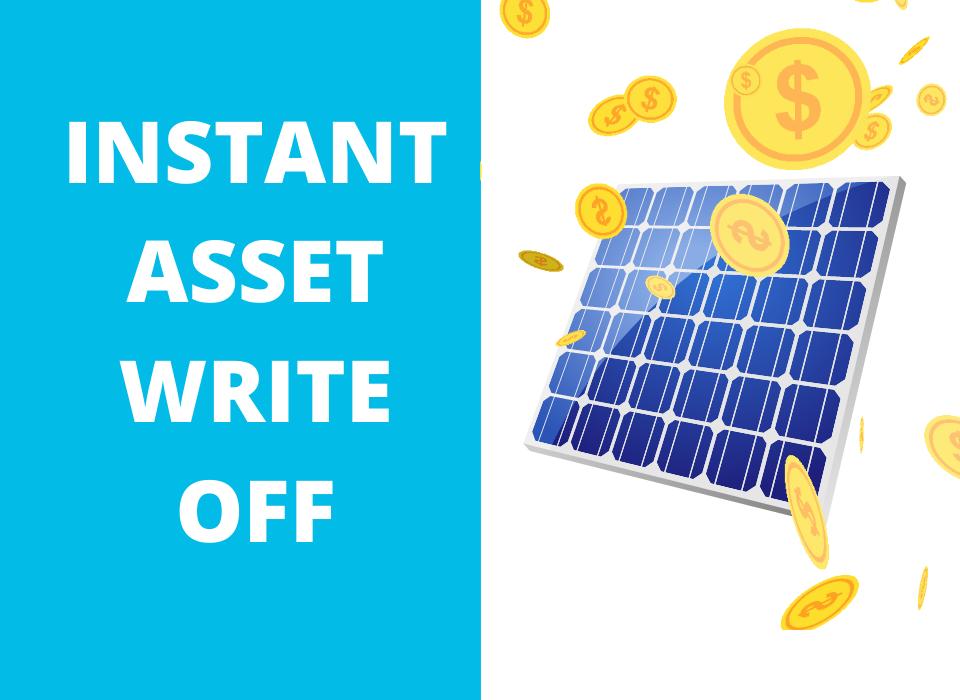 commercial solar instant asset write off illustration
