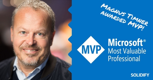 Blog post image for blog post with title Magnus Timner awarded Microsoft MVP
