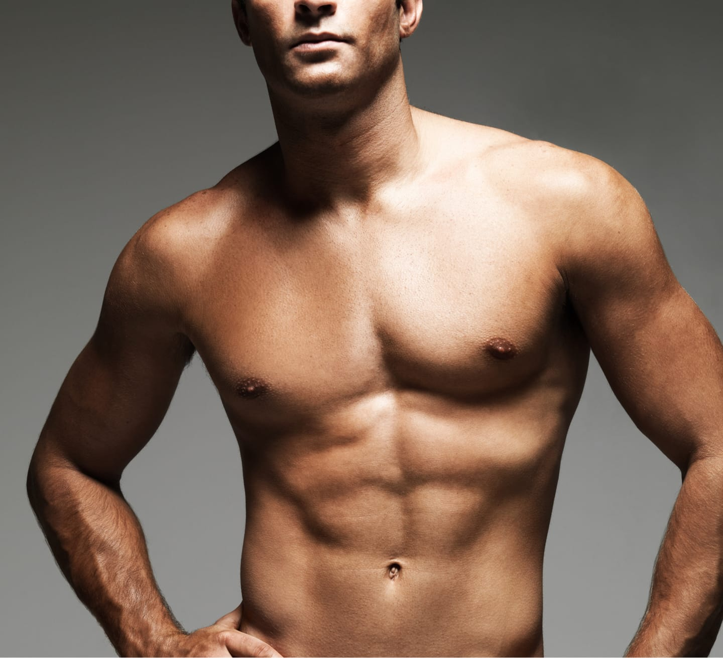 male model's sculpted chest