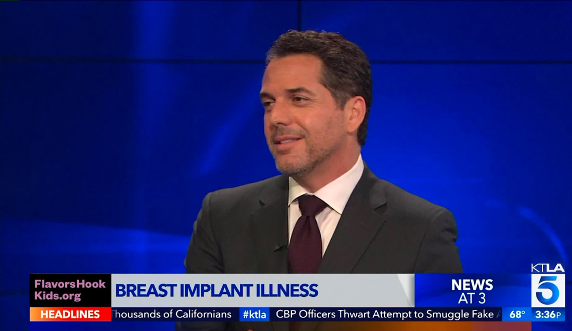 Dr. Brenner on the news talking about breast implant illness