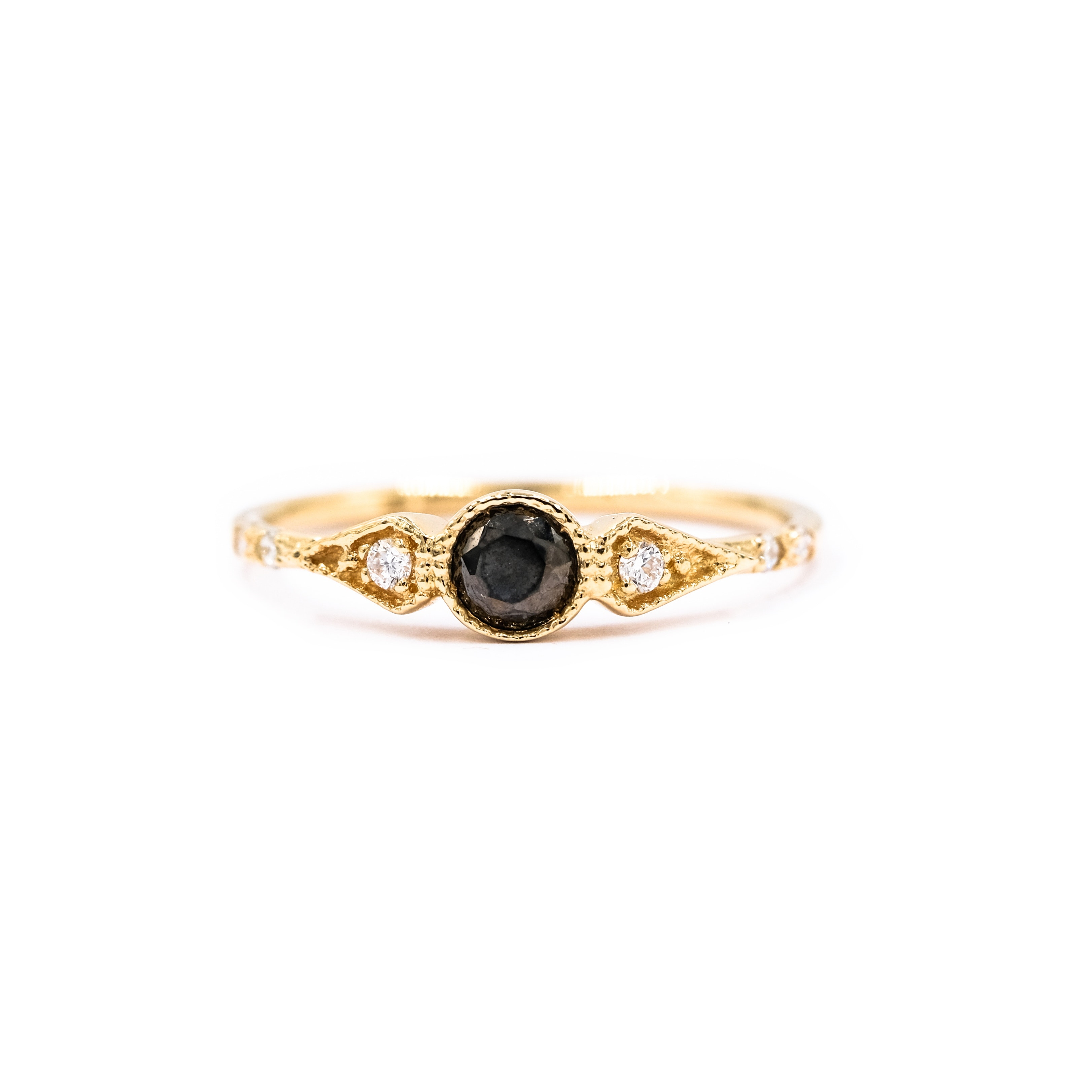 Bague round onyx