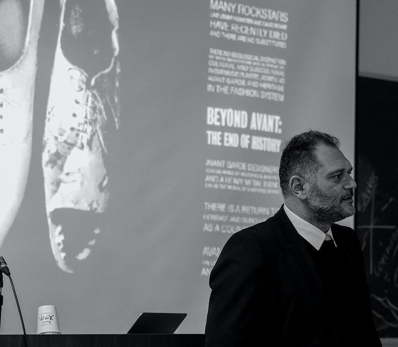 Danilo Venturi during his lecture at Osaka Bunka Fashion College