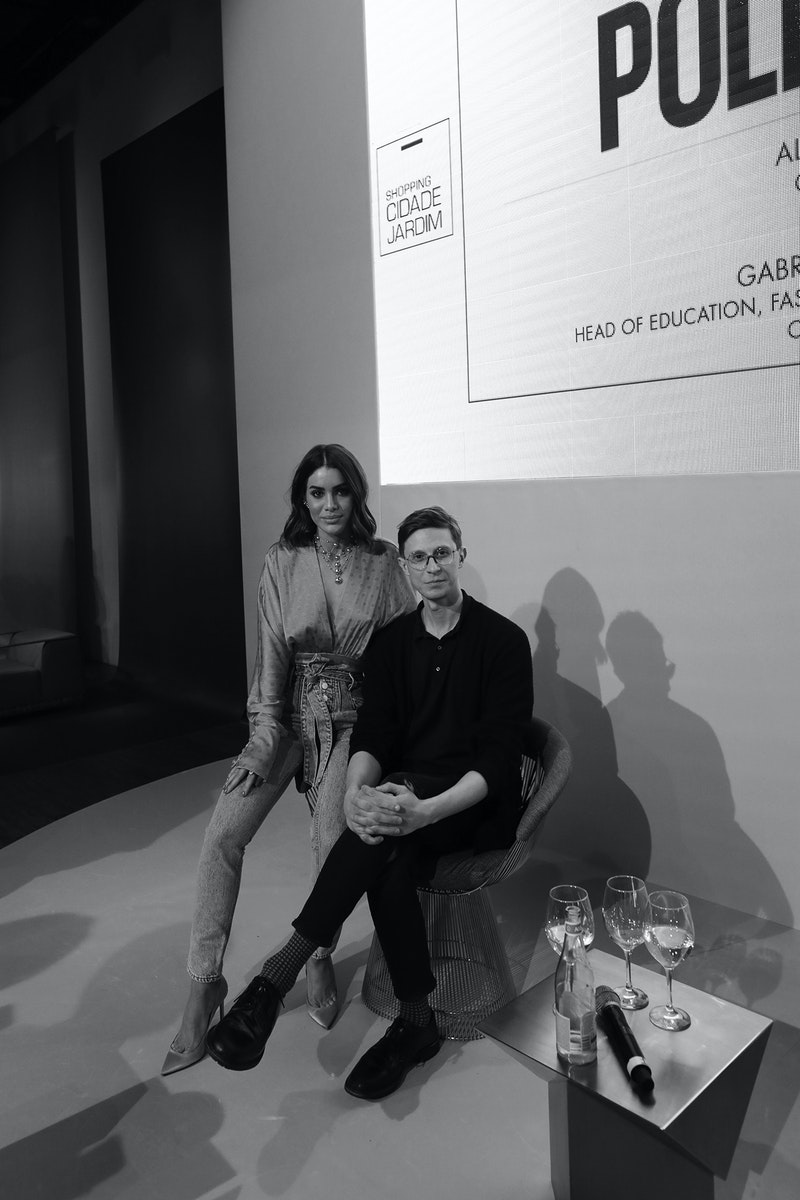 Gabriele Moschin and Camila Coelho during QG F*hits São Paulo: The Phygital Experience