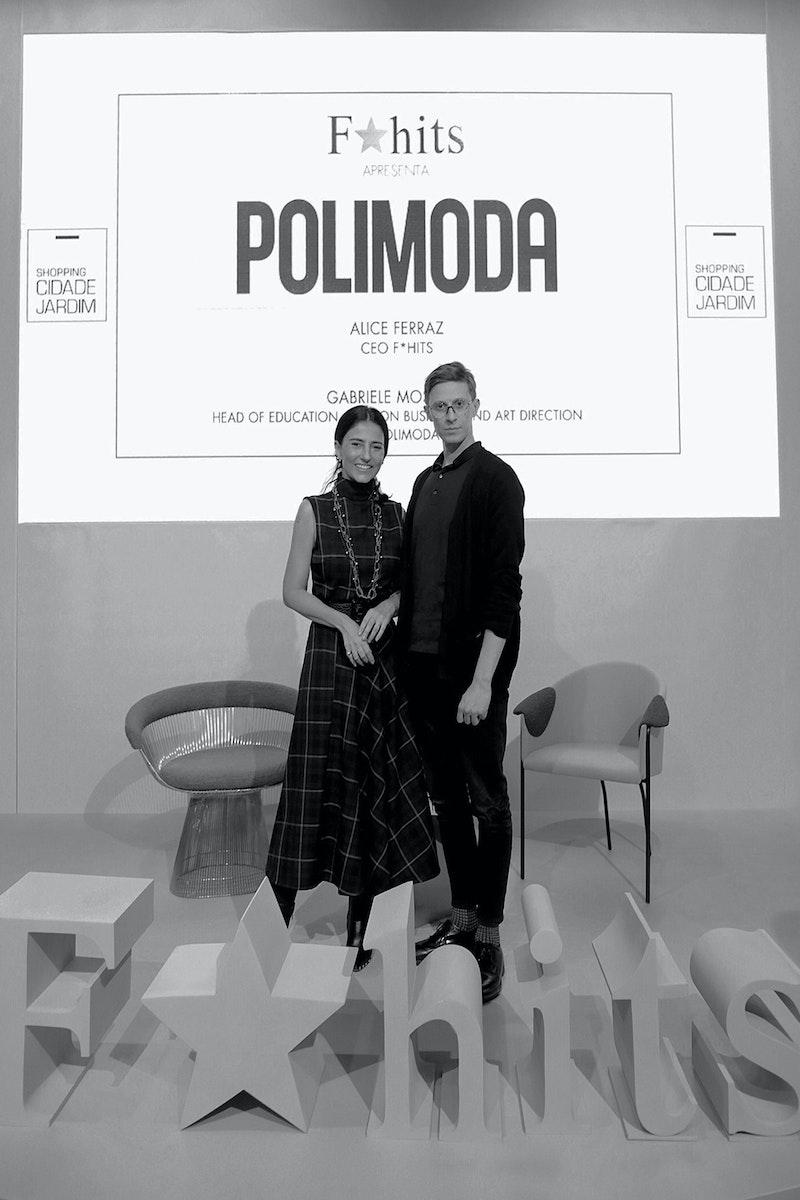 Gabriele Moschin and Alice Ferraz during QG F*hits São Paulo: The Phygital Experience