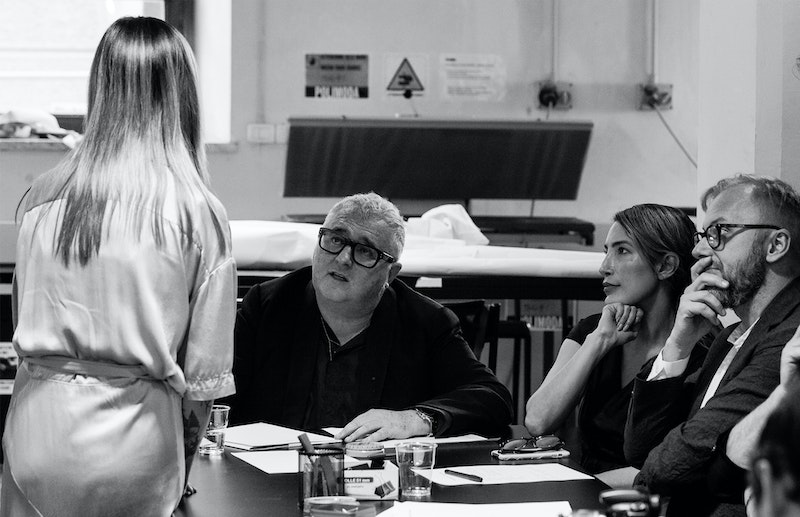 Alber Elbaz during the review of the Polimoda Fashion show