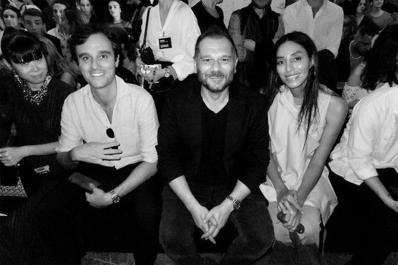 Danilo Venturi, Leaf Greener, Lea T, Emanuele Farneti. Jury at Supernature Polimoda Fashion Show 2019, Manifattura Tabacchi, Florence, Italy,