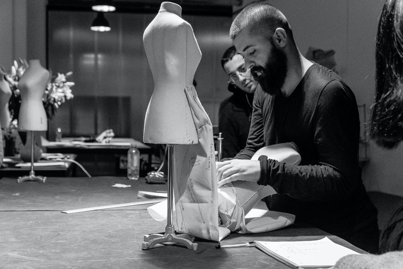 Ahmad Daher, Rick Owens' Head of Women's Patternmaking