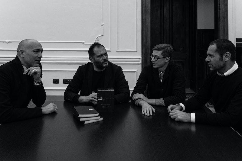 From left to right: Niccolò Sbaraglia (Head of Fashion Business), Danilo Venturi (Director), Gabriele Moschin (Head of Education) and Massimiliano Giornetti (Head of Fashion Design).
