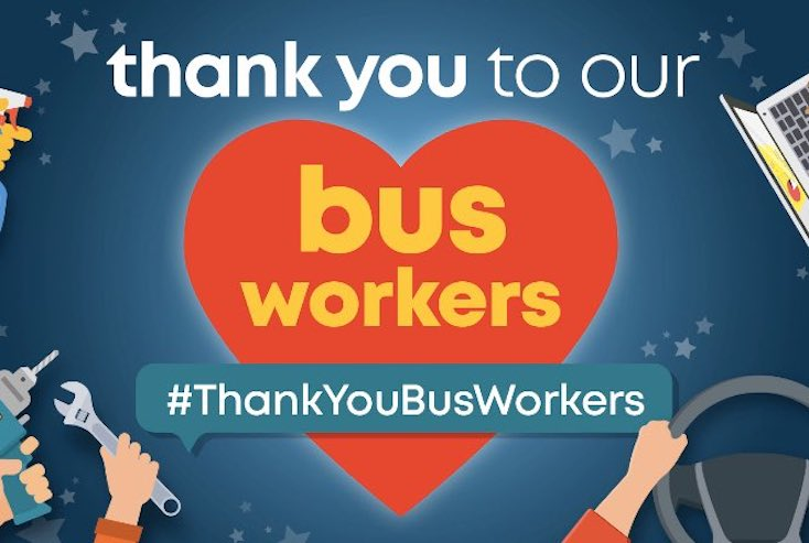 Thank you to all the bus workers