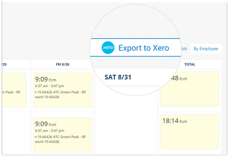TimeSheets Right Into Xero Time Tracking