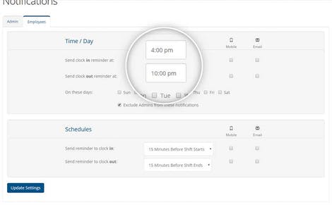 Automatic Clock In Clock Out Reminders