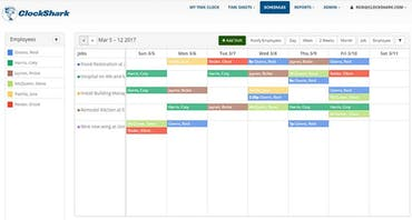 Employee Scheduling With Mobile Time Tracking for Construction and Field Service