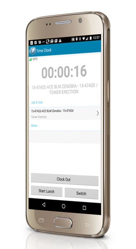 Android Time Card App for mobile workforce