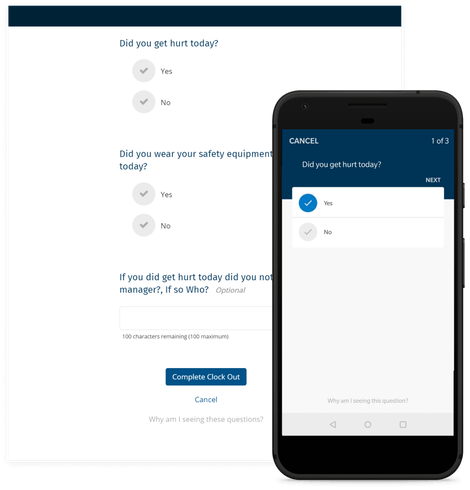 Get Answers at Clock Out Time With Clock Out Questions