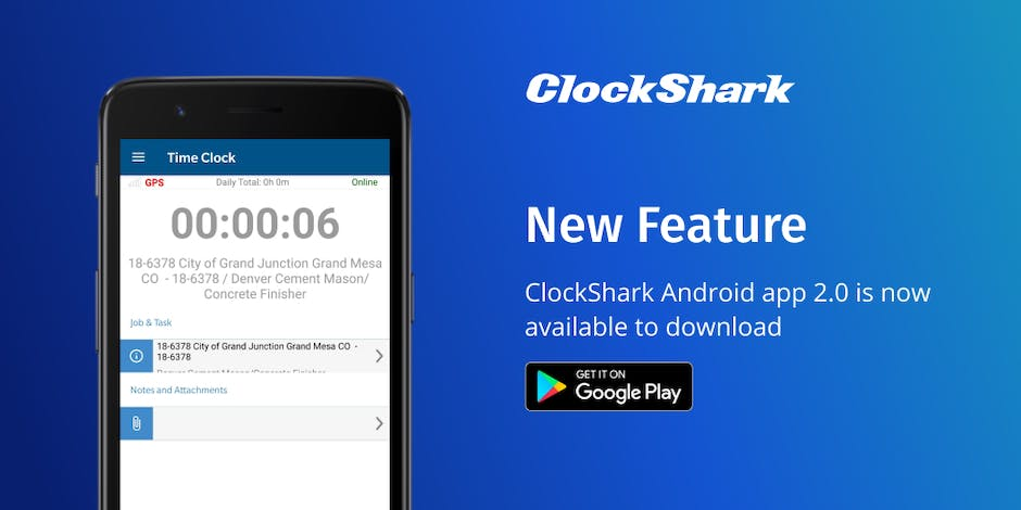 New Feature: ClockShark Android App 2.0 Available