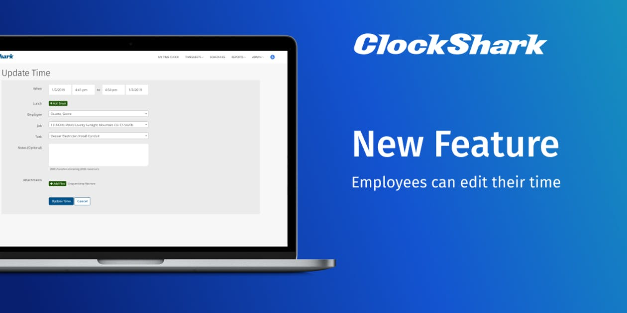 New ClockShark Feature: Employees Can Edit Their Time