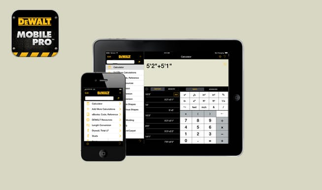 best apps for construction businesses - Dewalt Mobile Pro