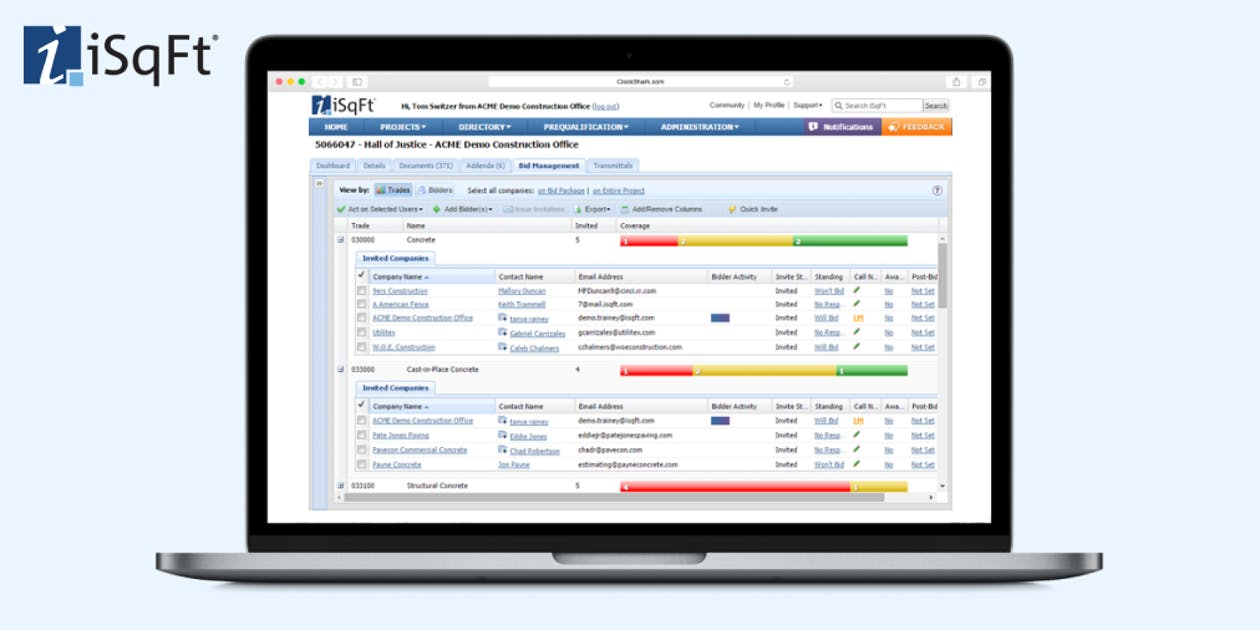iSqFt the Bid Management Software Review