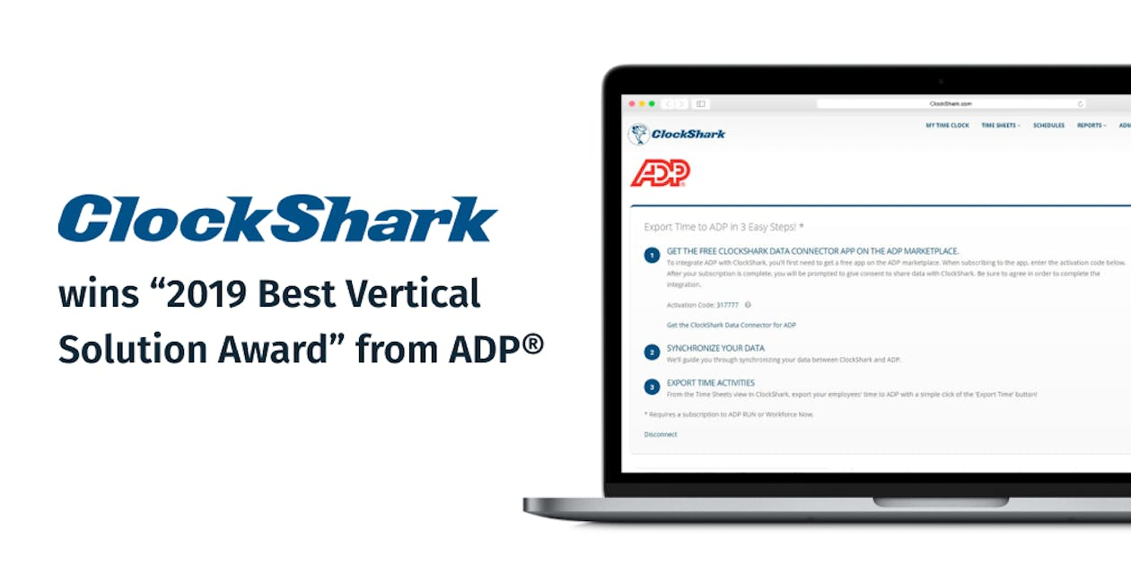 ClockShark Wins 2019 Best Vertical Solution Award From ADP®