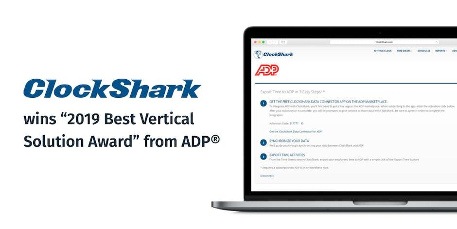 ClockShark Wins 2019 Best Vertical Solution Award From ADP®