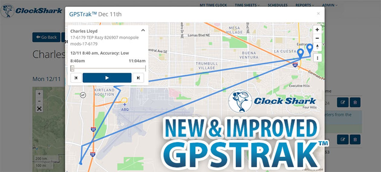 ClockShark Feature Update: New & Improved GPSTrak