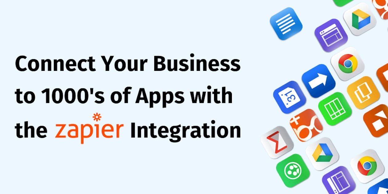 Connect Your Business to 1000's of Apps With the Zapier Integration blog header