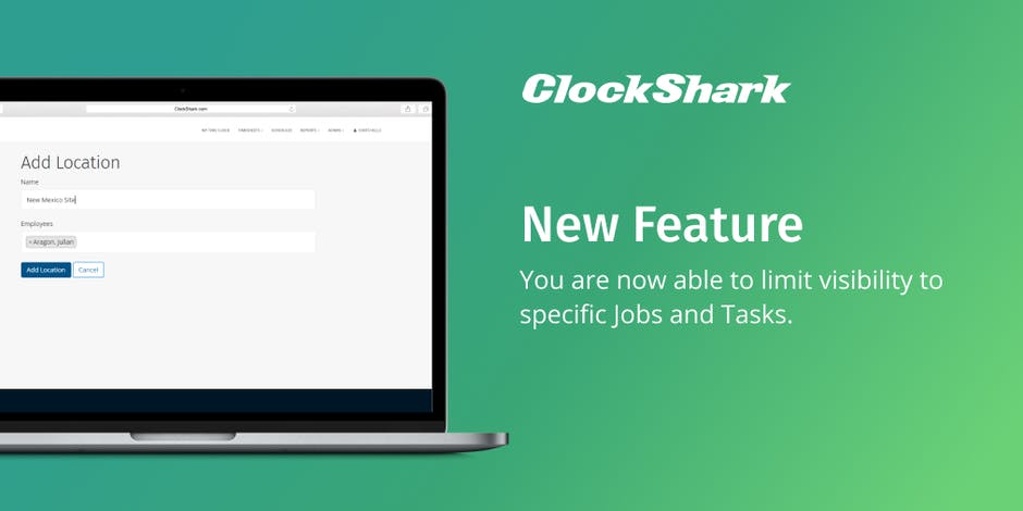 New ClockShark Feature - Limit Visibility of Jobs and Tasks