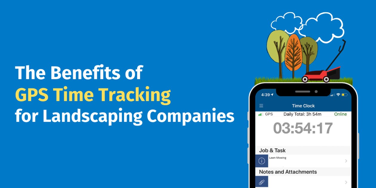 GPS time tracking for landscaping