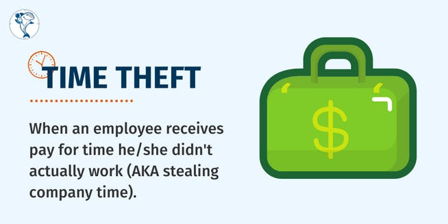 What is employee time theft