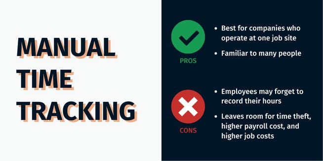 How to track employee's time in your pool company - Manual Time Tracking