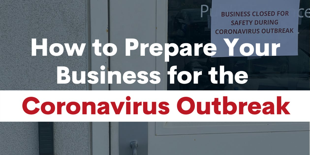 How to Prepare Your Business for the Coronavirus Outbreak Graphic