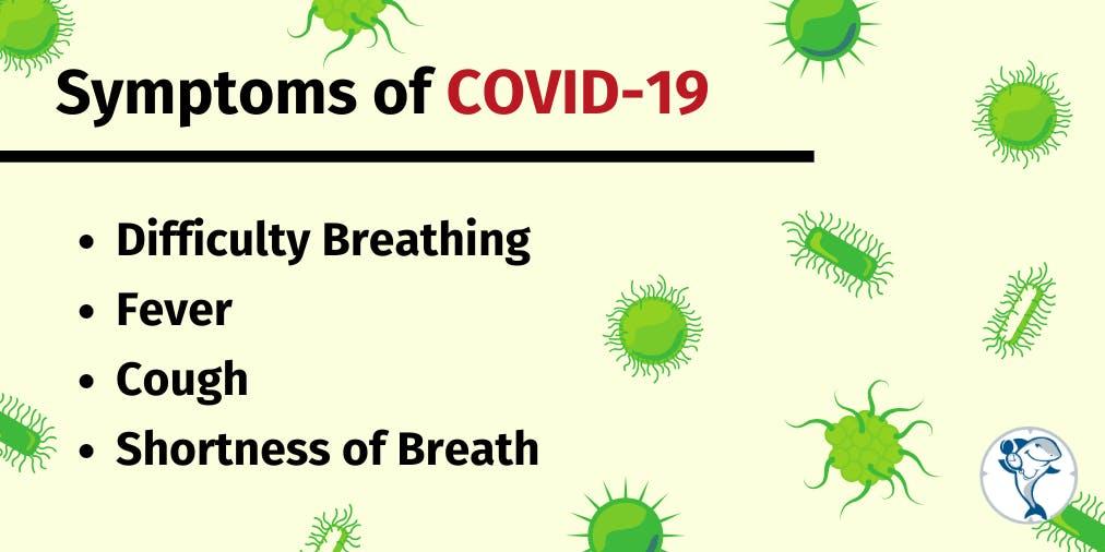 Symptoms of the Coronavirus Graphic