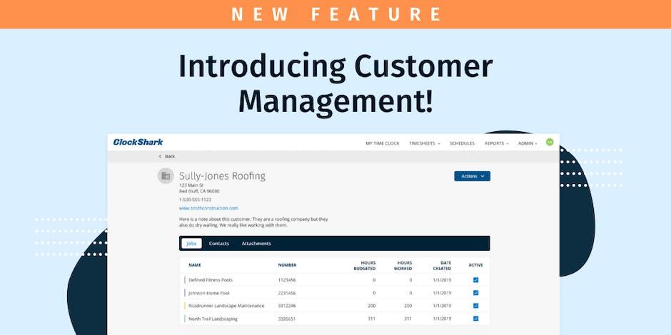 Introducing ClockShark's Newest  Feature: Customer Management