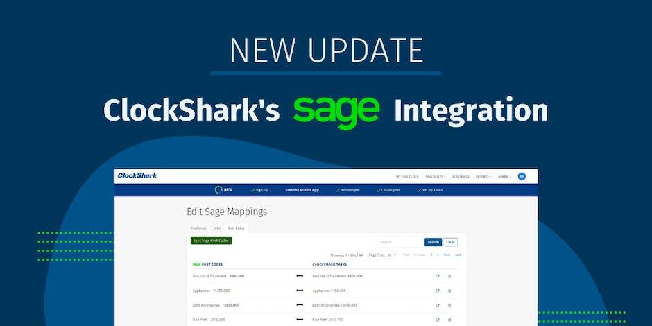 ClockShark and Sage Integration