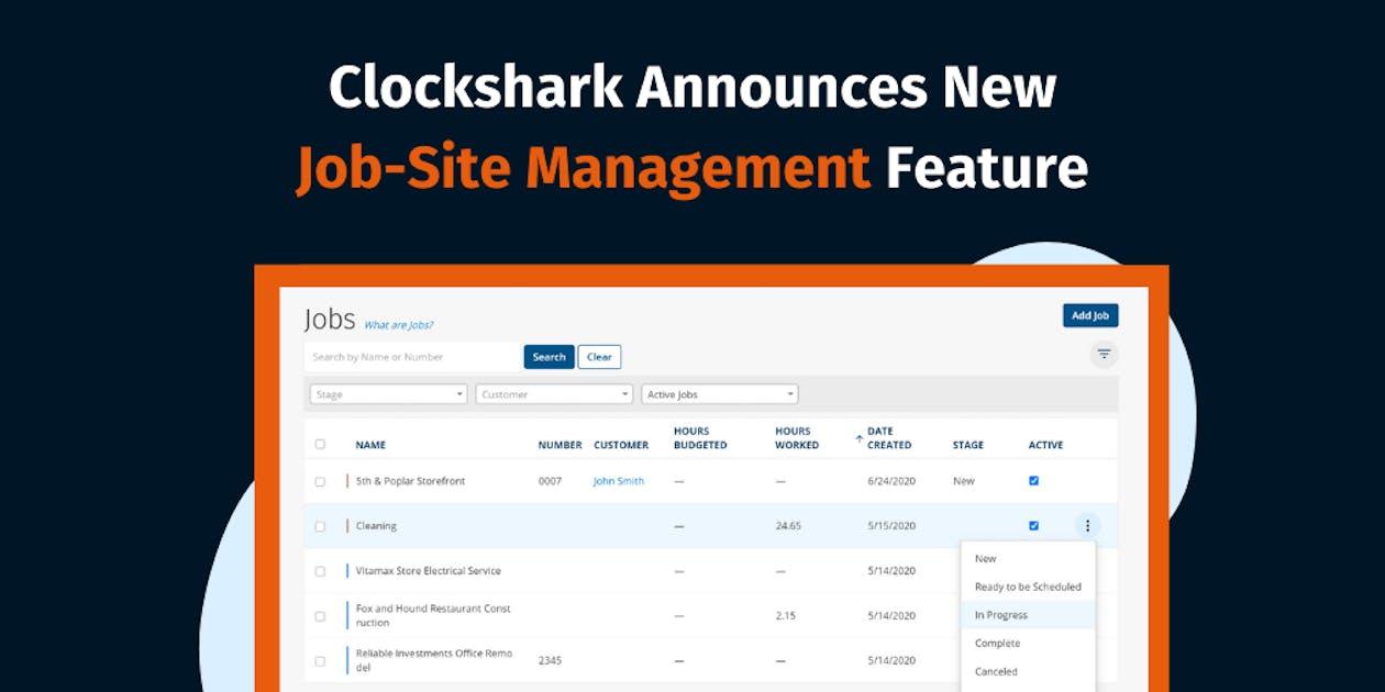 Clockshark Announces New Jobsite Management Feature