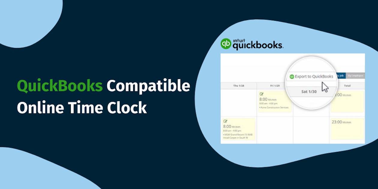 ClockShark's QuickBooks Compatible Online Time Clock