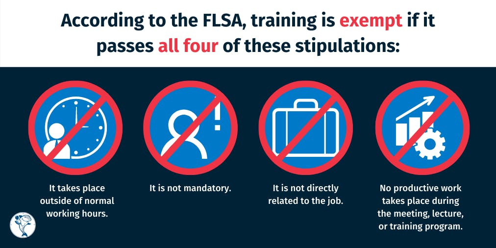 Fair Labor Standards Act (FLSA) training exemption