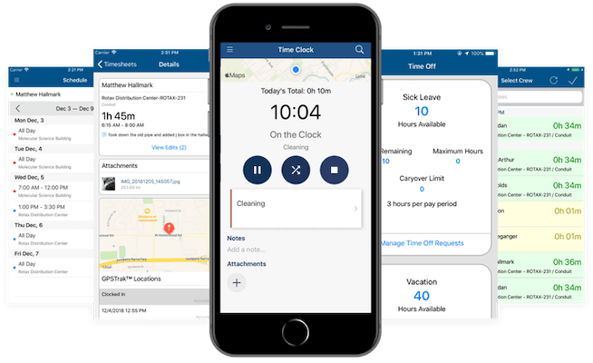 Time tracking app