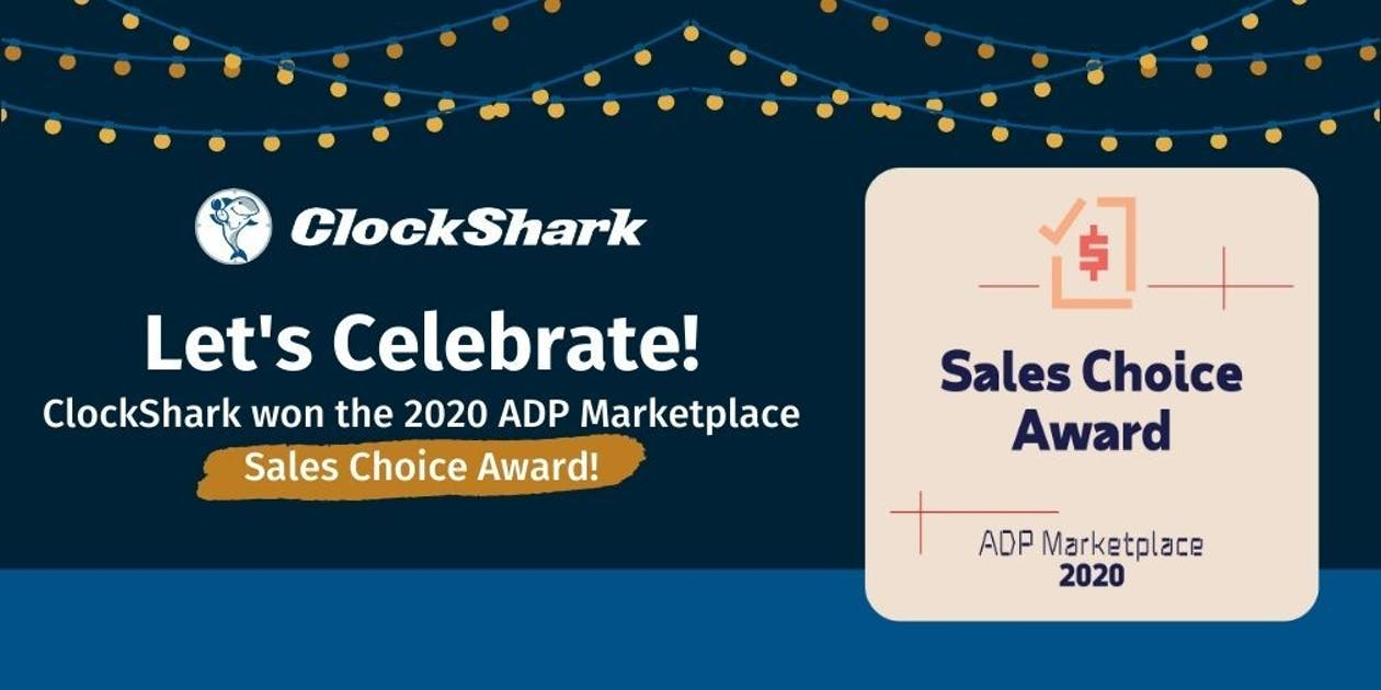 ClockShark Wins 2020 ADP Marketplace Sales Choice Award