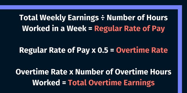 Calculate overtime using a weighted average