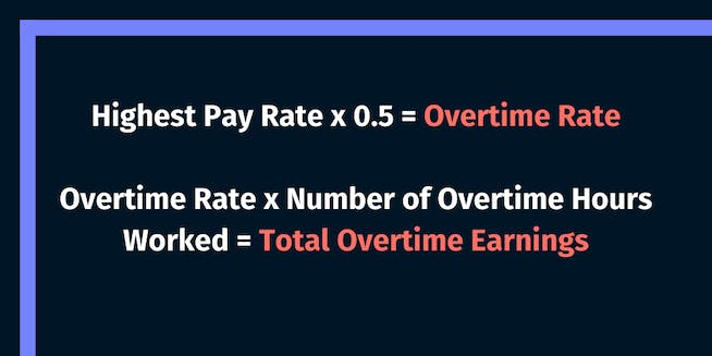 Use the highest rate of pay to calculate overtime