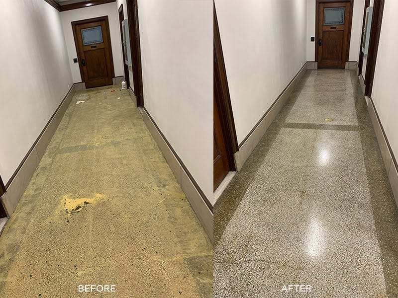Clean Right Solutions LLC Floors before and after comparison picture
