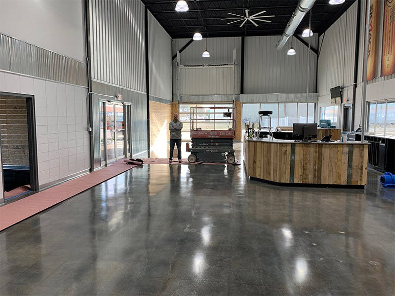 Clean Right Solutions LLC staff and equipment leaves commercial businesses floors and windows spotless.