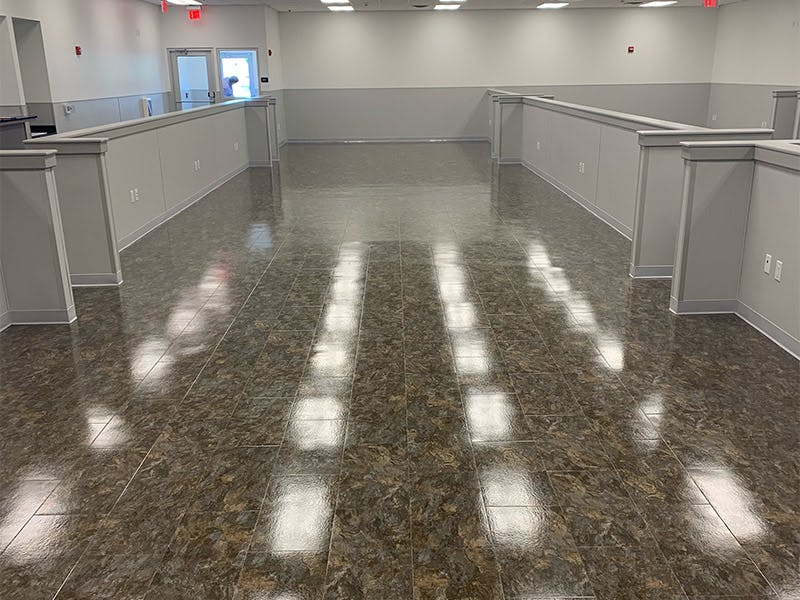 Clean Right Solutions LLC staff leaves floors spotless and shiny